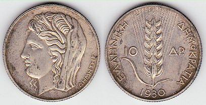 10_drachmae_1930,_Greece