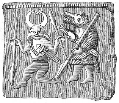 Odin with Berserk