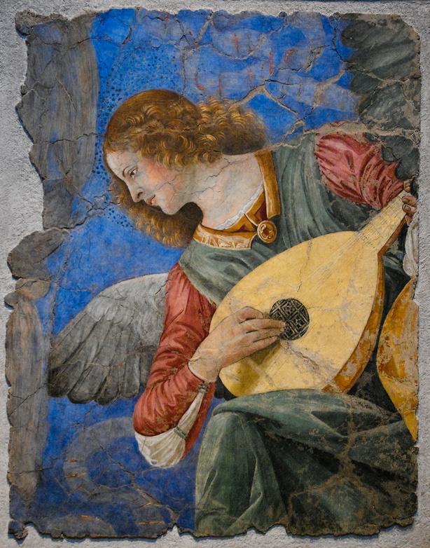 Musician angel by Melozzo da Forli