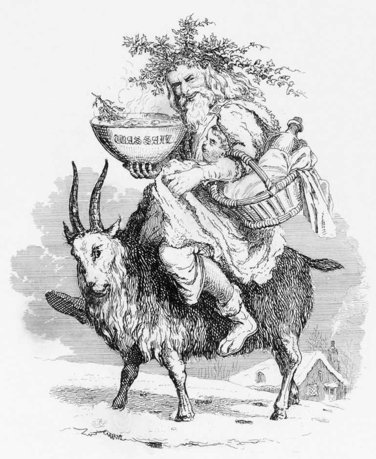Old_Christmas_riding_a_goat,_by_Robert_Seymour,_1836